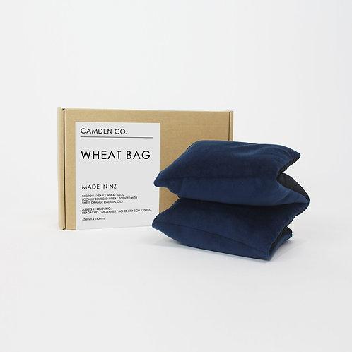 Wheat Bag - Navy Velvet