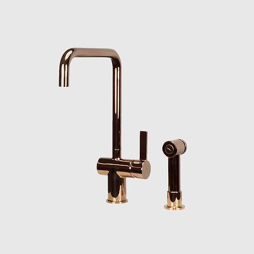 Waterware - Urban Gooseneck Bench Extractable Rose Gold Kitchen Mixer