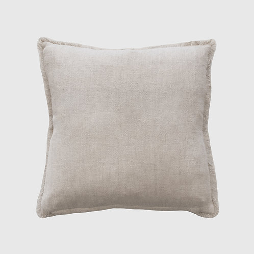 Keaton Natural Cushion 55x55 with Feather Inner