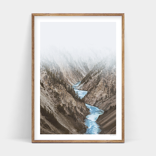 A3 Print and Frame - Valley - EX DISPLAY