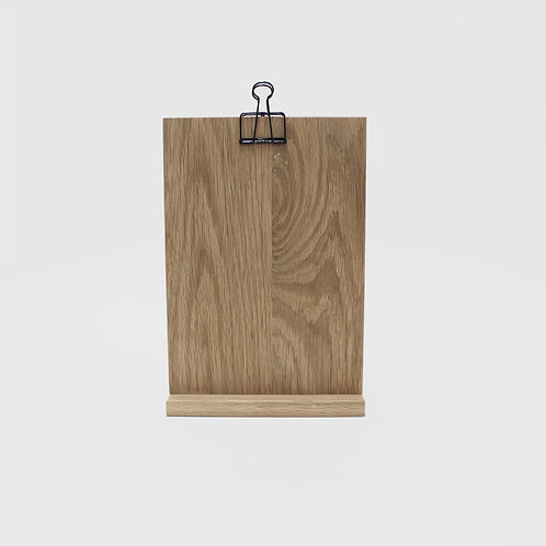 Clip Stand Large - Solid Oak