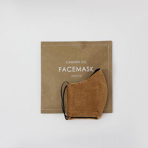 Face Mask- Caramel Corduroy