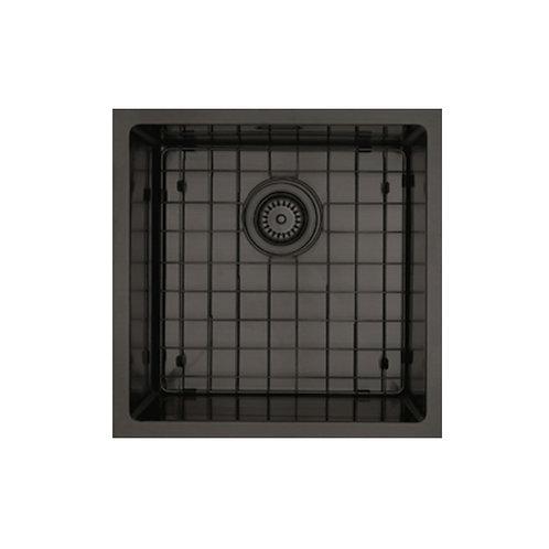 Mercer Aurora Series Coloured Stainless Double Sink - Black 400x400