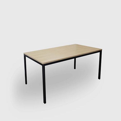 Framed Black Oak Plywood Dining Table