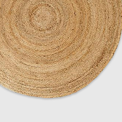 Round Jute Rug Natural - Range of Sizes