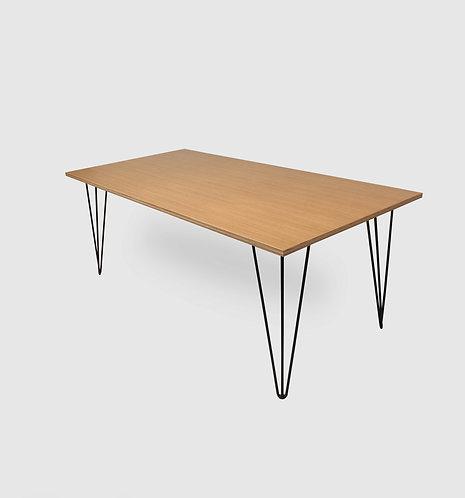 Arrow Oak/Steel Dining Table