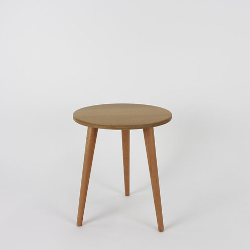 Oak Plywood Small Side Table