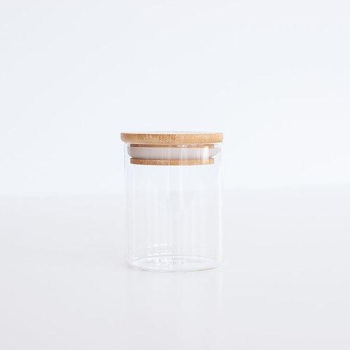 Glass & Bamboo Spice Jar - 110ml