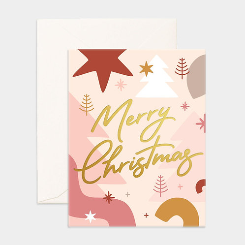 Card Merry Christmas Abstract