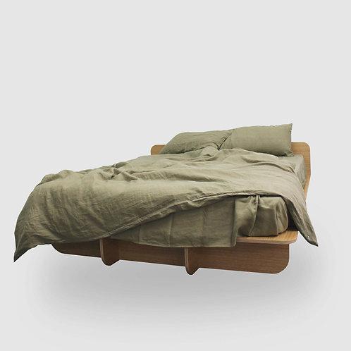 Mood Flat Timber Bed Base - Oak