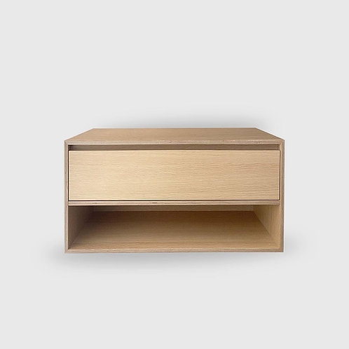 Boxed 1 Drawer Open Box Stacked Oak Plywood Vanity
