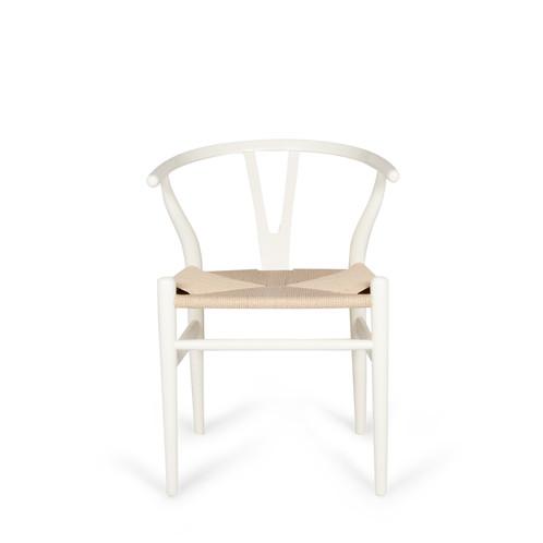 Beech Wood Wishbone Chair White