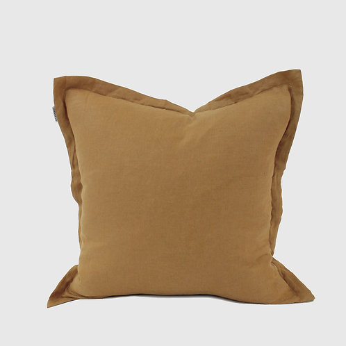 Terracotta French Linen 50x50 Cushion with Feather Inner
