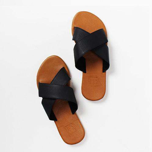 Cross Black Leather Slide