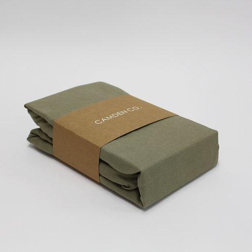 Linen Duvet Cover - Green Moss