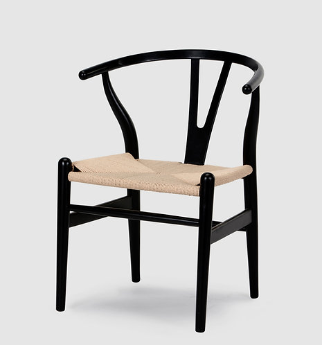 Beech Wood Wishbone Chair Black