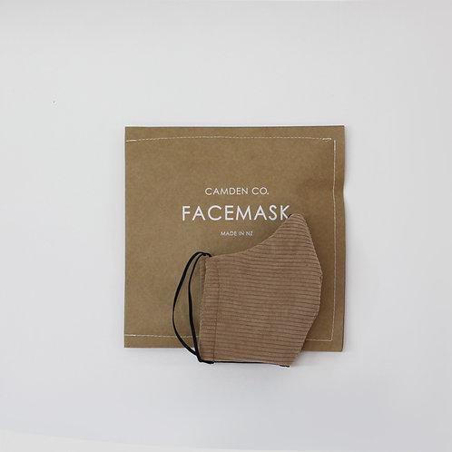 Face Mask- Beige Corduroy