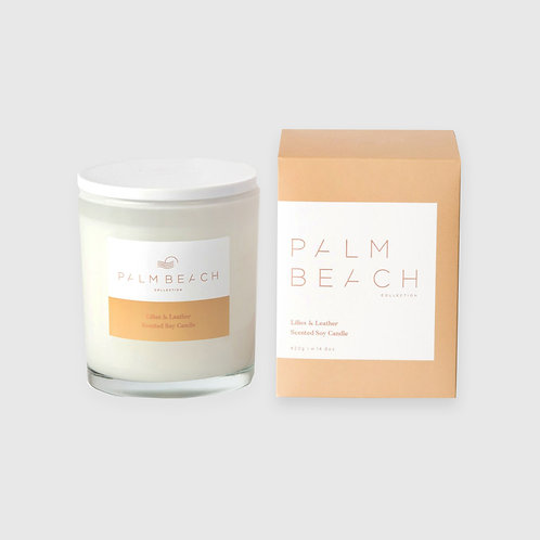 Soy Candle - Lillies and Leather 420G