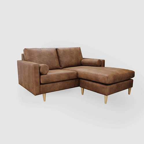 Vegan Leather Plimmerton Sofa Chaise - Range of sizes