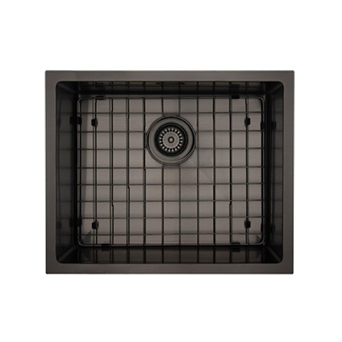 Mercer Aurora Series Coloured Stainless Double Sink - Black 500x400