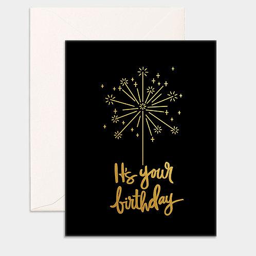 Card Birthday Sparkler