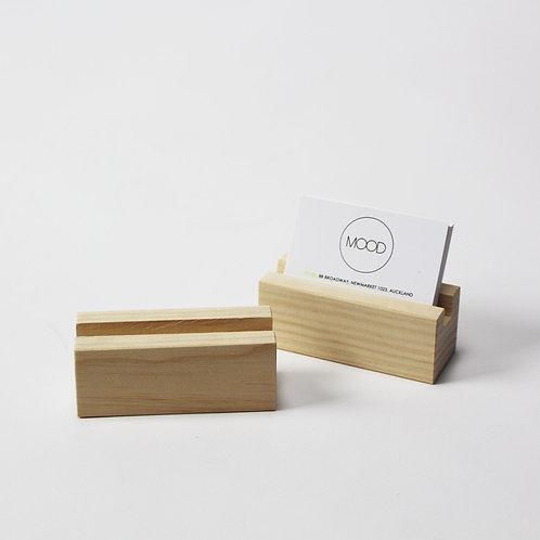 Wooden Business Card Holder - Pine