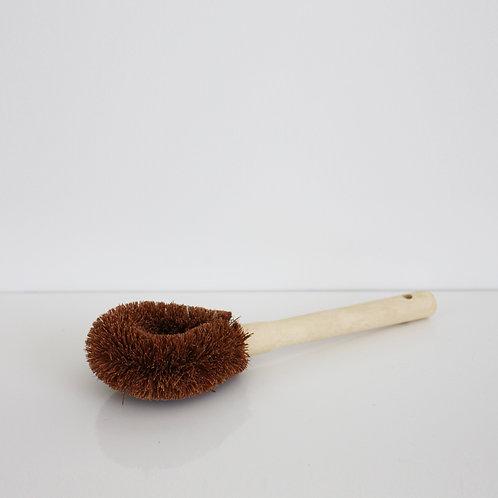 Kitchen Wooden Coconut Fibre Brush Long