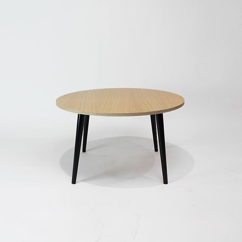 Oak Plywood 800mm Round Coffee Table