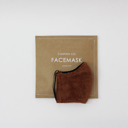 Face Mask - Clay Corduroy