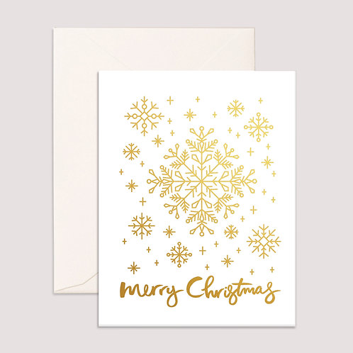 Card Christmas Snowflakes
