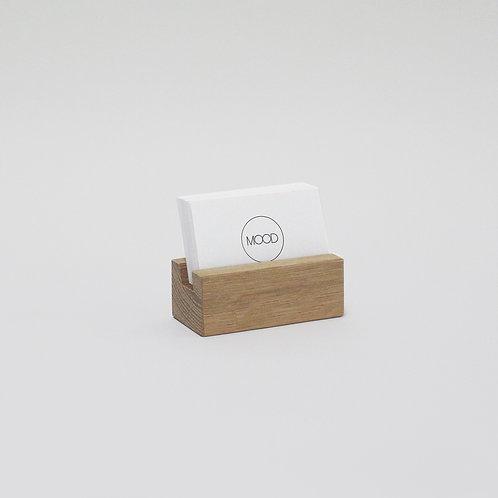 Wooden Business Card Holder - Solid Oak
