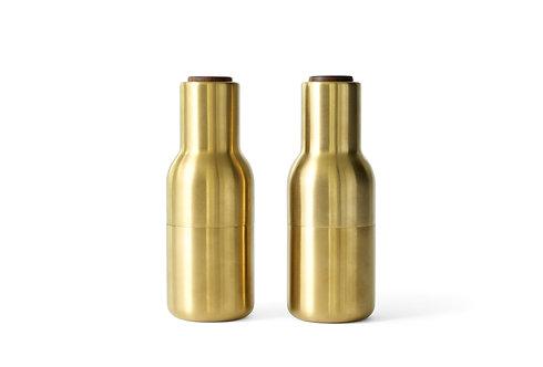 Menu Bottle Grinder Set - Brass/Walnut Lid