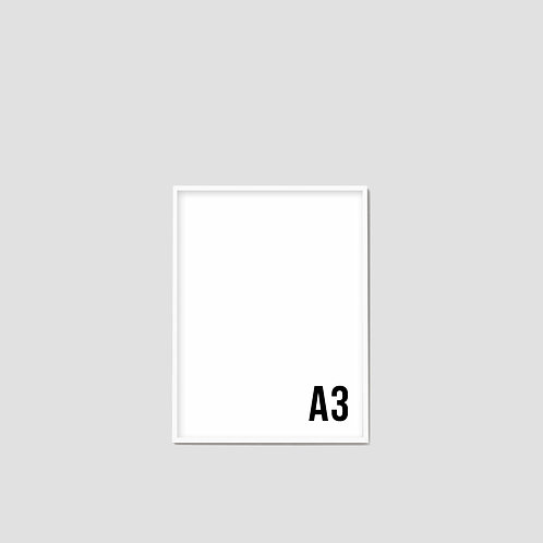 A3 White Frame