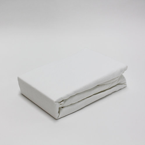 Linen Fitted Sheet - French White