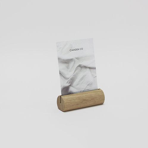 Display Card Holder - Solid Oak