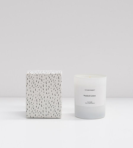 Soy Scented Candle - Washed Cotton