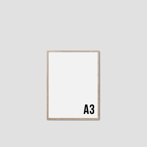 A3 Oak Frame