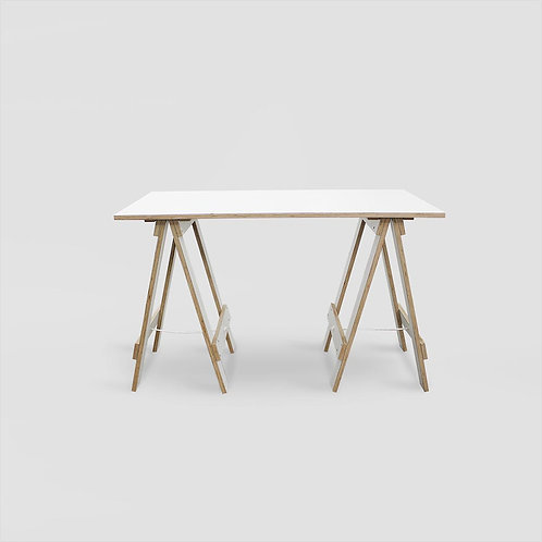 Plywood Trestle Desk - SupaWhite Plywood