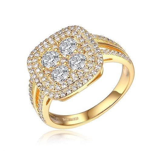 טבעת קרוליין גולדפילד משובץ