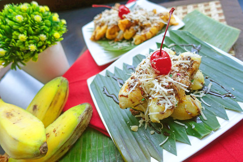 Grilled & Fried Banana @ Heliconia Restaurant