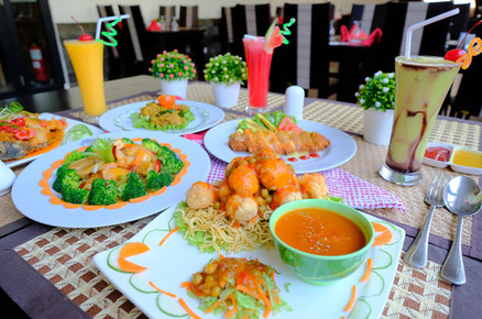 Hearty Meal in Heliconia Restaurant
