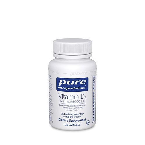 Vitamin D3 125 mcg (5,000 IU) 120's