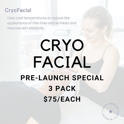 3 Pack- CryoFacial Pre-Launch Special