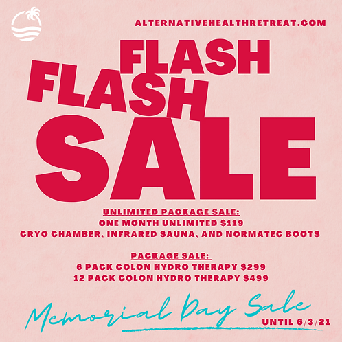 Flash Sale Unlimited Cryo/Sauna/Normatec