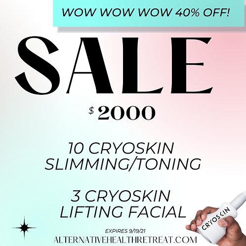 10 CryoSkin Slimming/Toning + 3 Cryoskin Lifting Facials