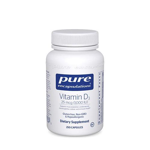 Vitamin D3 25 mcg (1,000 IU) 250's