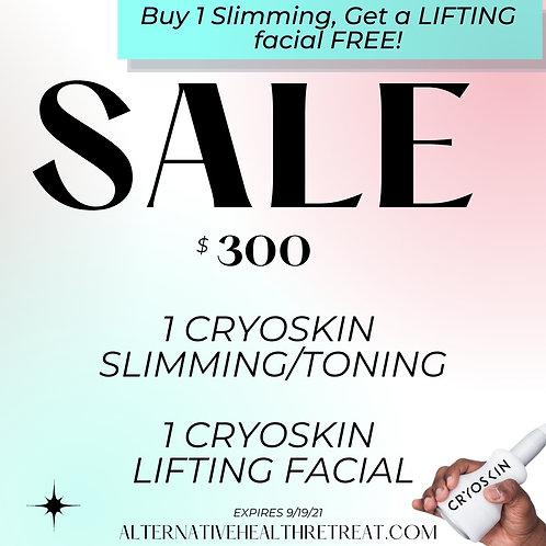 Buy 1 CryoSkin Slimming/Toning, Get 1 CryoSkin Facial Free