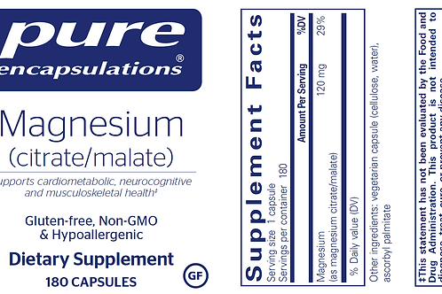 Magnesium (citrate/malate) 180's