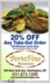 Porto Fino Restaurant Coupon