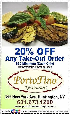 Porto Fino Restaurant Coupon